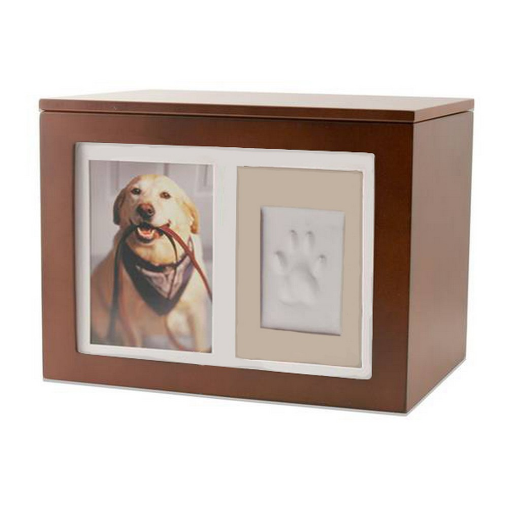 Personalized Pet Paw Print Memory Box | Engraved Pet Memorial and ...