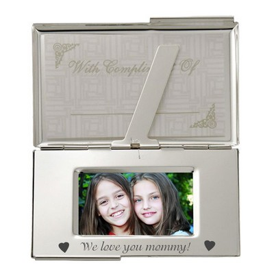 Personalized Photo Business Card Case for Mom