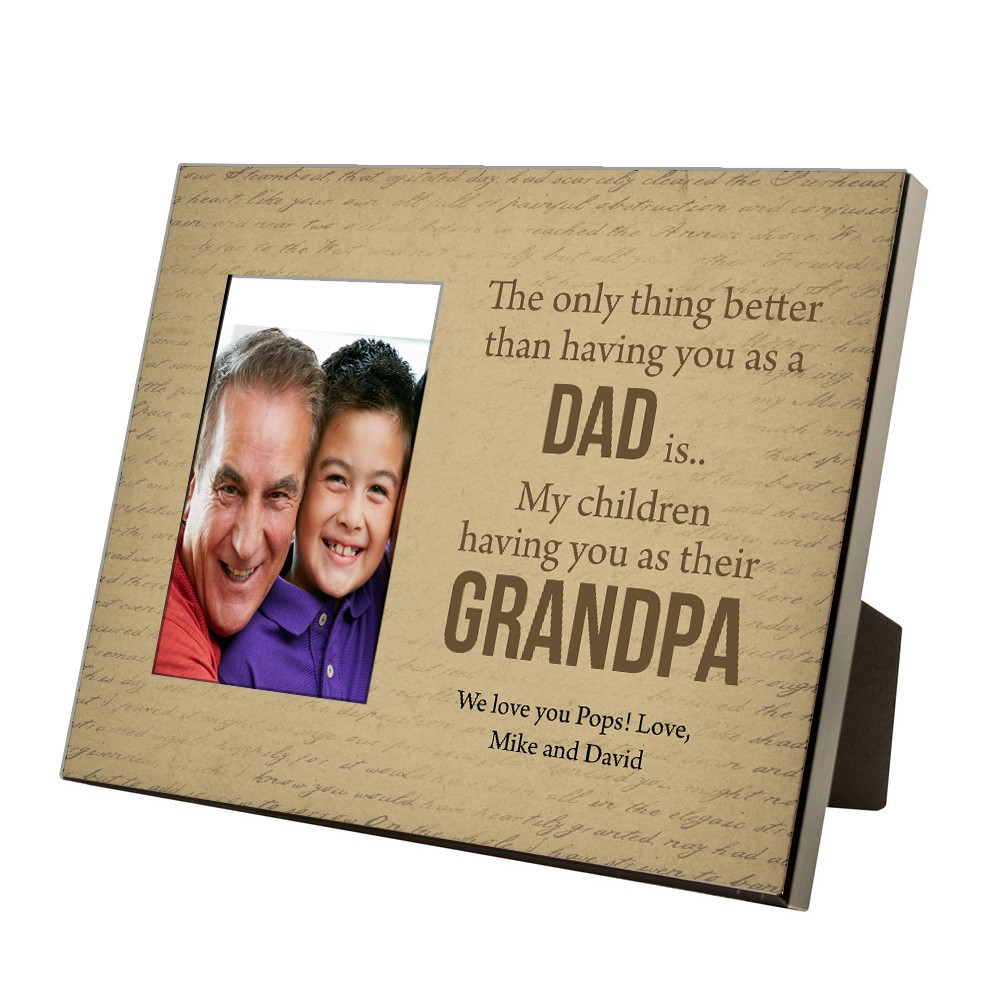 Personalized 4 x 6 Photo Frame For Grandpa