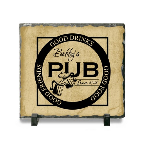 Personalized Pub Sign Ceramic Slate Plaque