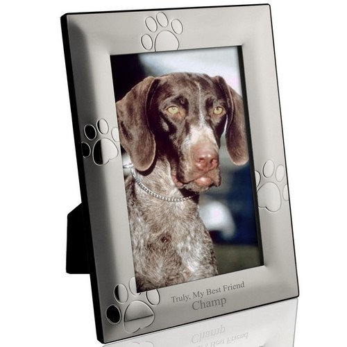 Personalized Puppy Paw Print 5X7 Picture Frame