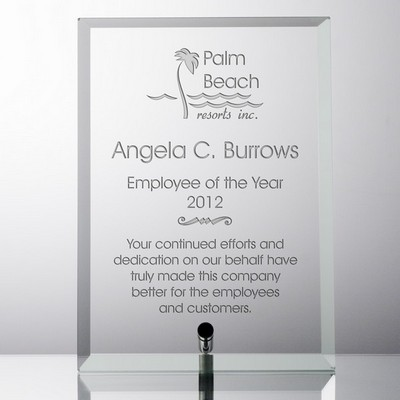 Personalized Recognition Award Glass Plaque