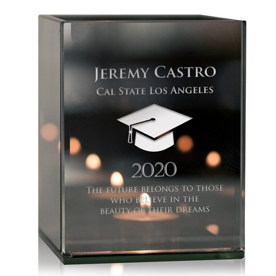Personalized Reflective Tealight Candle Holder for Graduation