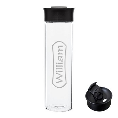 Personalized Reusable Glass Water Bottle