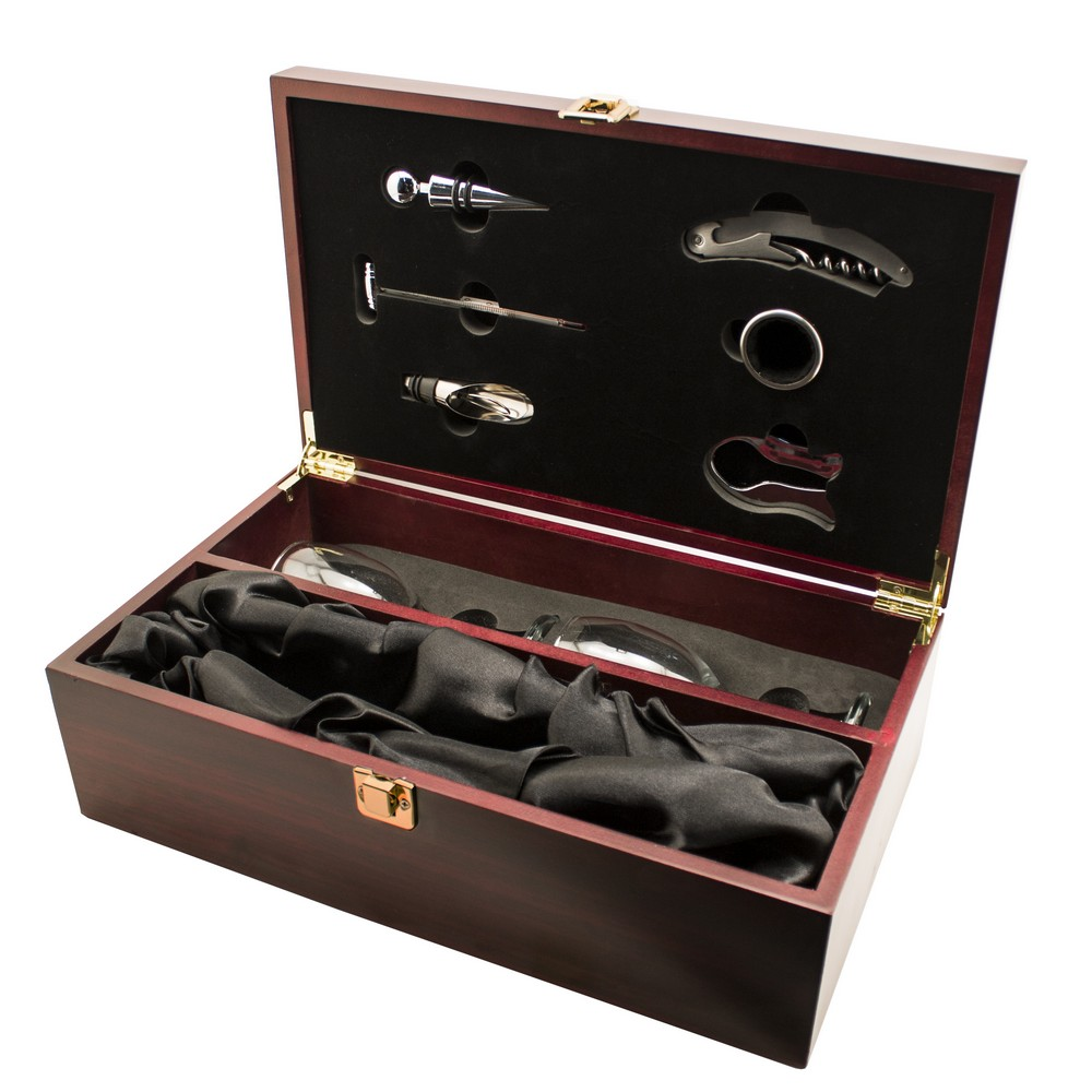 Th anniversary personalized wine box with accessories
