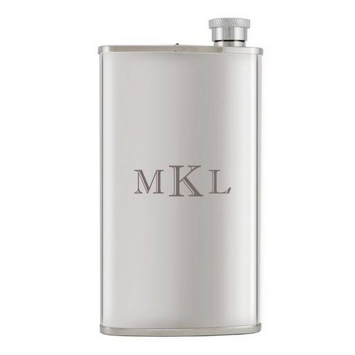 Personalized Silver Flask and Cigar Holder