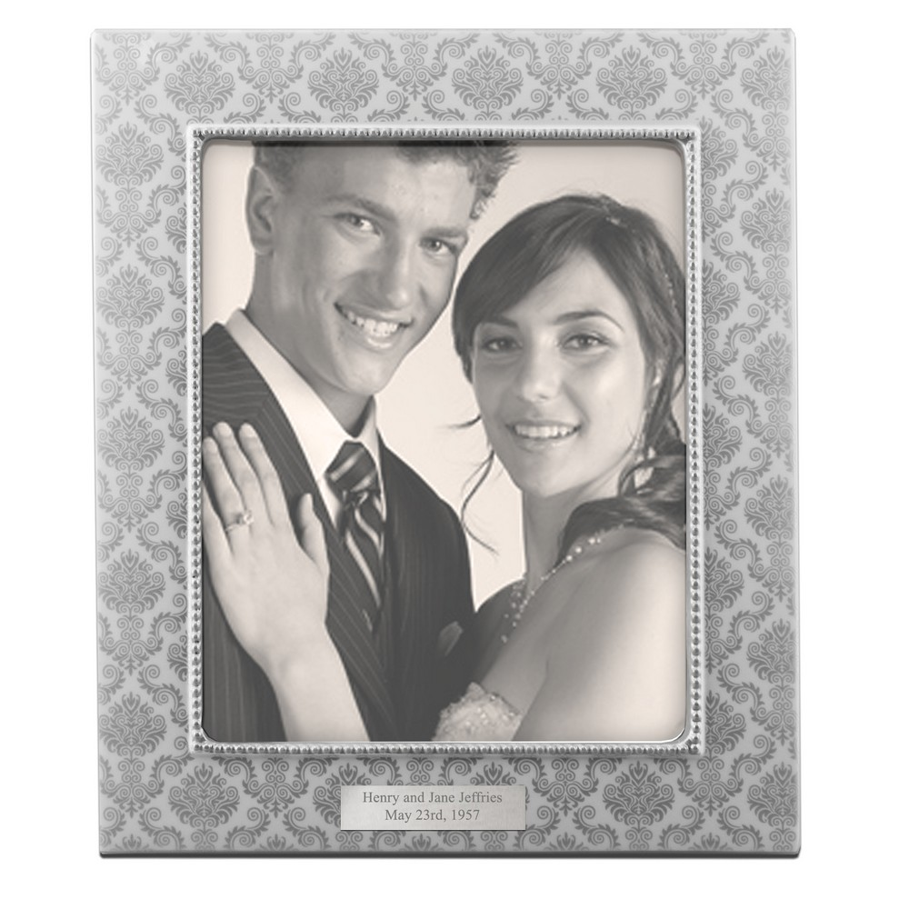Silver patterned ceramic 8x10 picture frame personalized silver patterned ceramic 8x10 picture frame jeuxipadfo Image collections