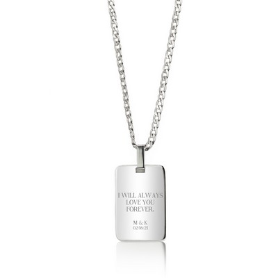 Good Looking Personalized Silver Pendant Necklace for Her