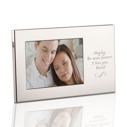 Personalized Silver Silhouette 3x5 Picture Frame