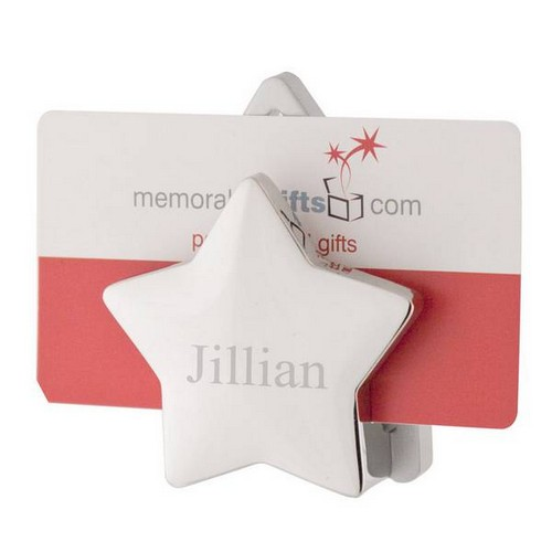 Elegant Dual-Star Business Card Holder