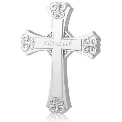 Personalized Silver Wall Cross