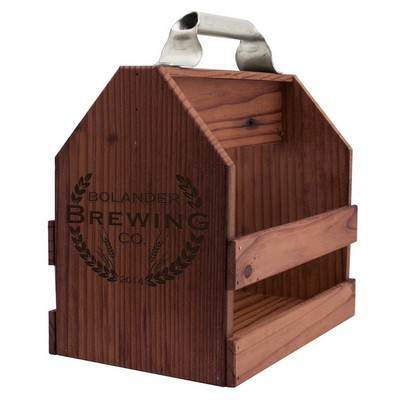 Personalized Six Pack Wooden Beer Caddy