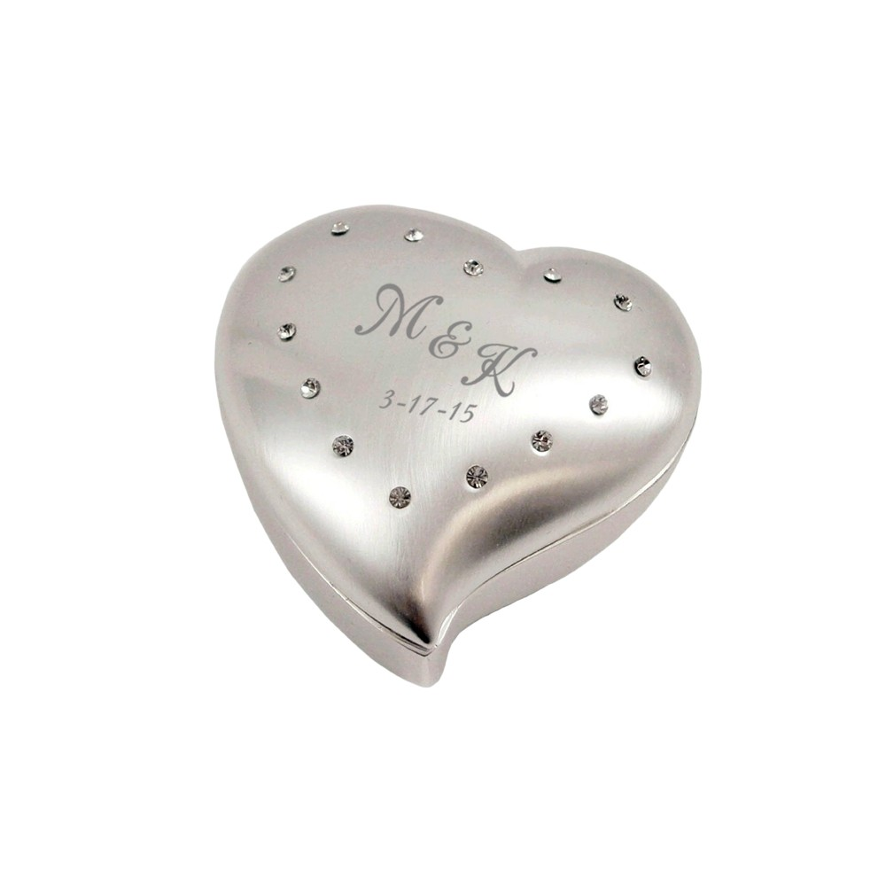 Personalized small heart proposal ring box for Heart ring box