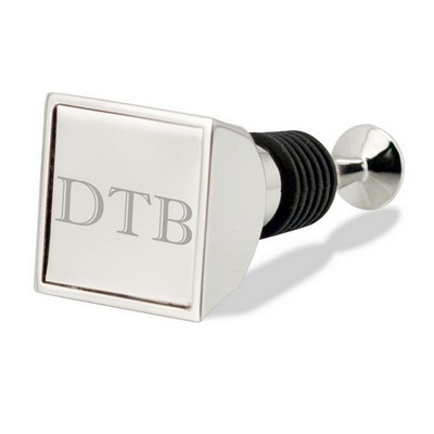 Personalized Square Top Wine Stopper