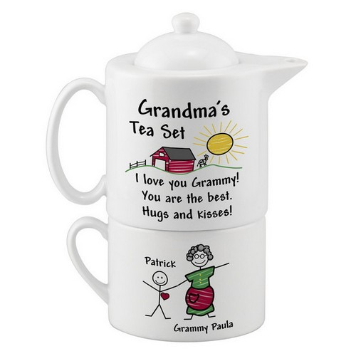 Personalized Tea Set for Grandma