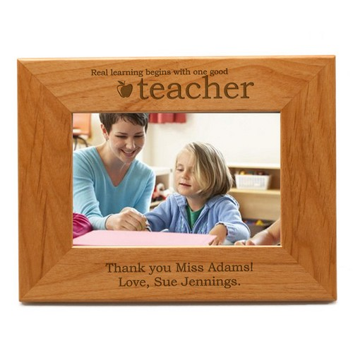Personalized Teacher Wood Photo Frame