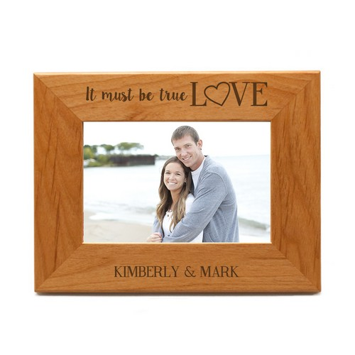 Personalized True Love Wooden 4x6 Photo Frame
