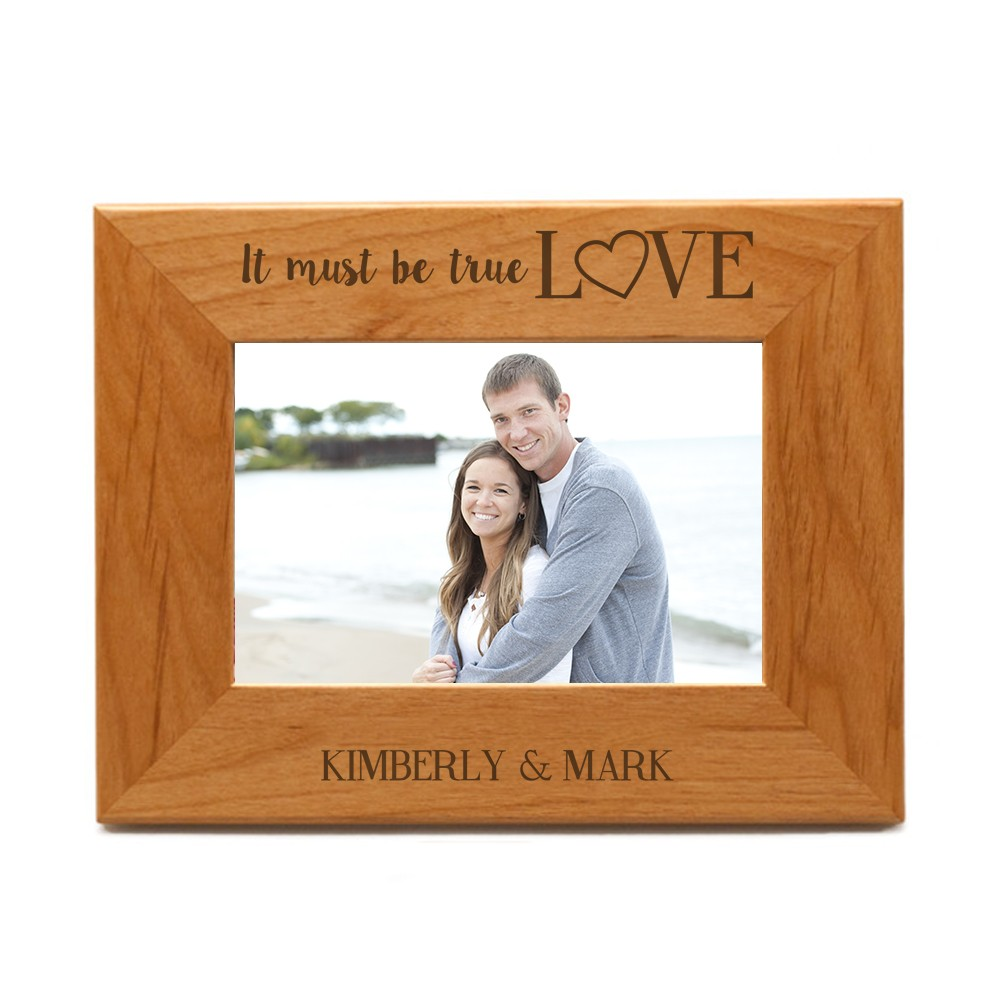 Personalise this frame I Love My Daddy Wooden Photo Frame 8x6 Free Engraving