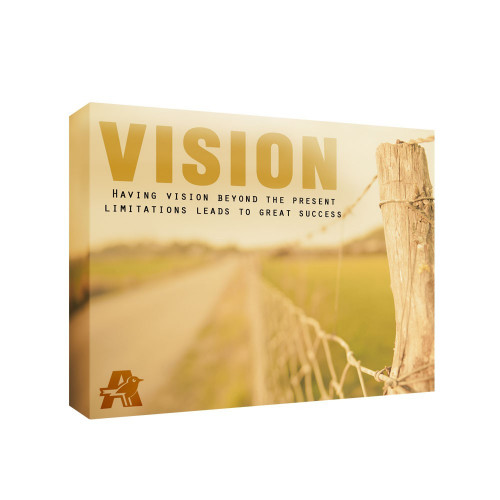 Vision 11x14 Personalized Inspirational Wall Canvas