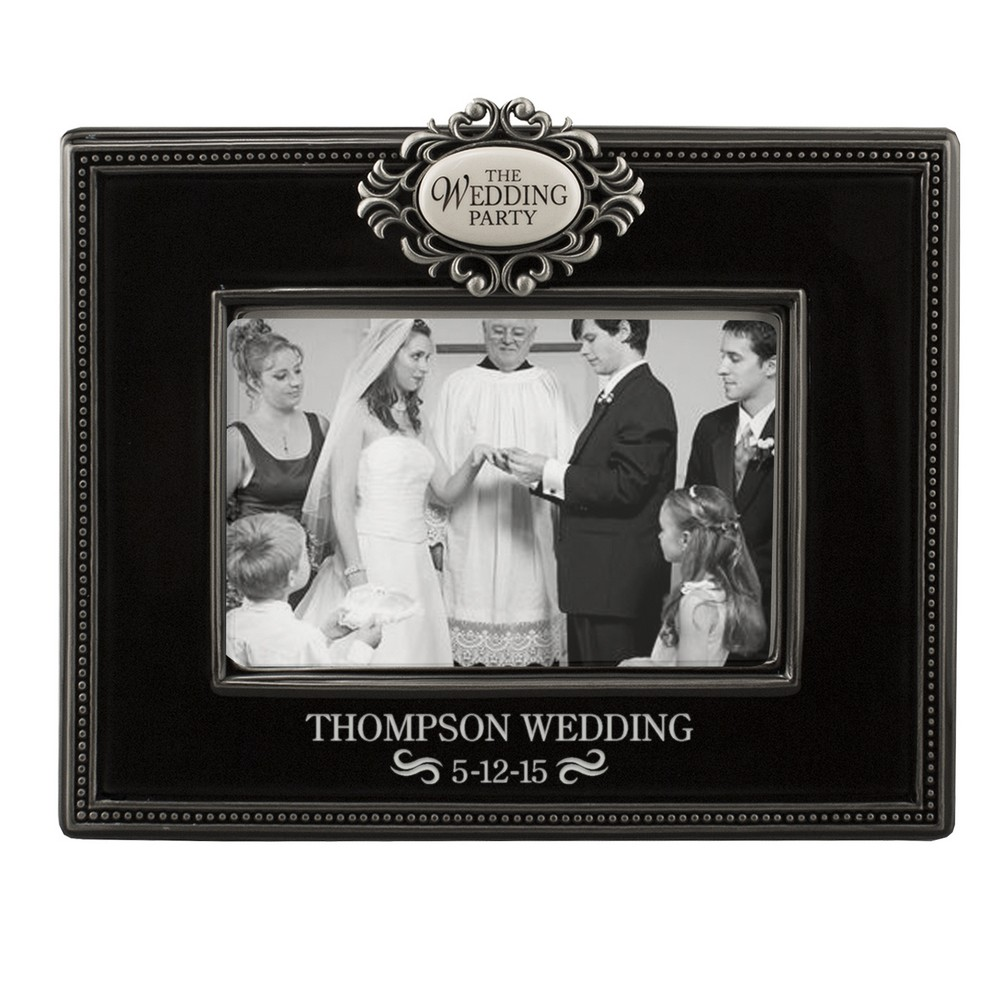 Wedding Picture Gifts: Personalized Wedding Party 4x6 Picture Frame