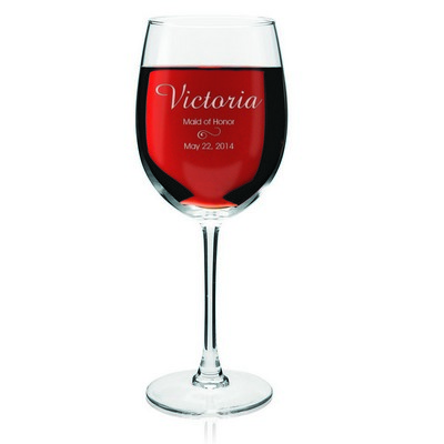 Personalized Wedding Party Wine Glass