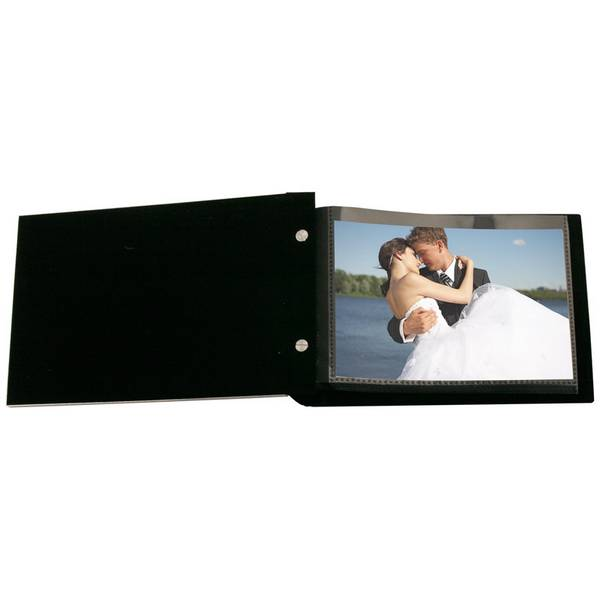 personalized wedding romance silver 4x6 photo album