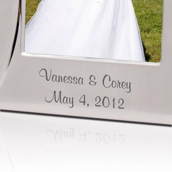Bridesmaid Wedding Thank You  Brushed Silver Photo Frame Gift