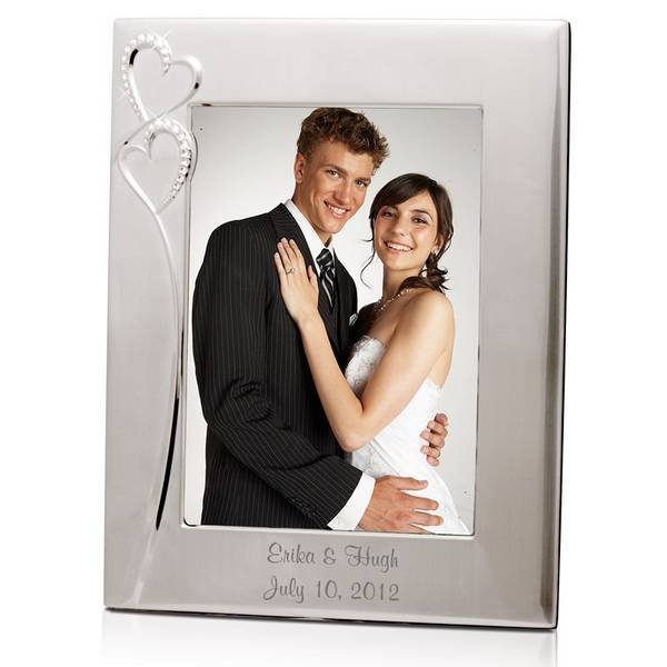 personalized wedding romance silver 8x10 picture frame personalized wedding romance silver 8x10 picture frame