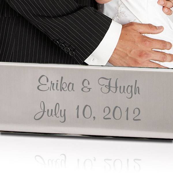 Personalized Wedding Picture Frames 8x10 : Personalized Wedding Romance Silver 8x10 Picture Frame