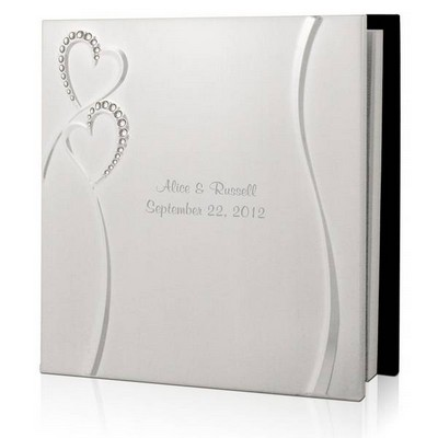 Personalized Wedding Romance Silver Guest Book