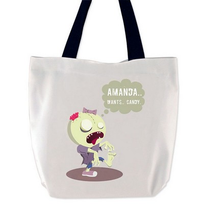 Personalized Zombie Girl Halloween Treat Bag
