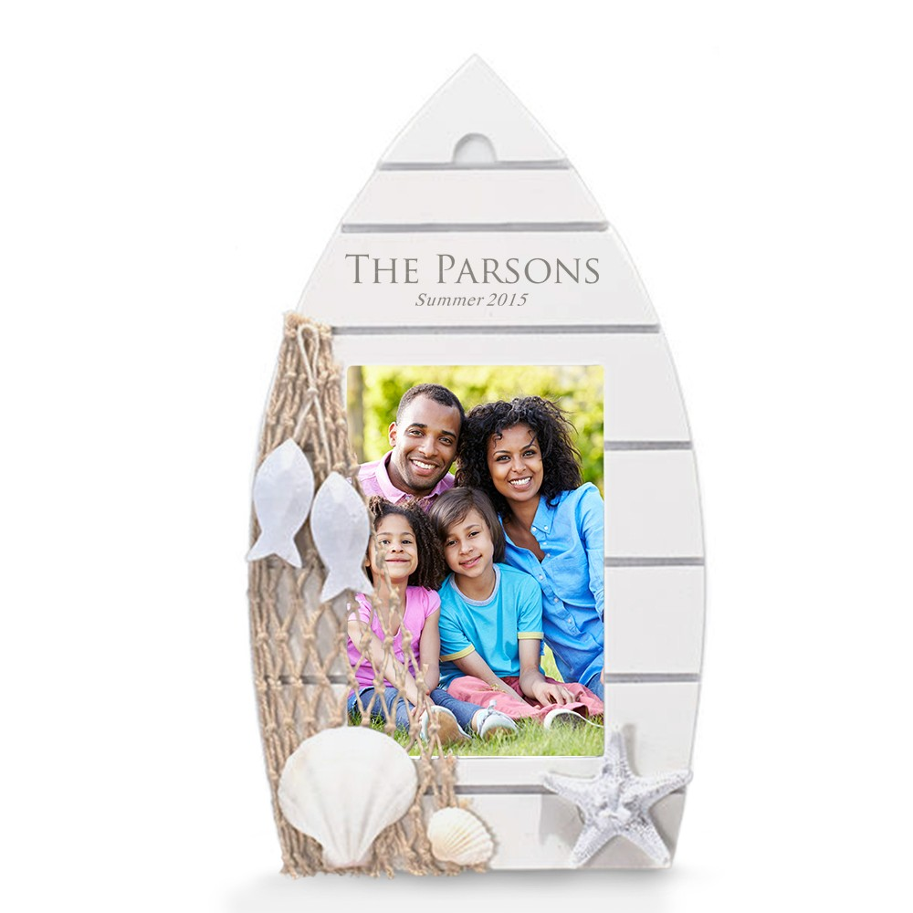 Personalized family gifts family albums frames game sets more personalized family white wood boat picture frame jeuxipadfo Images