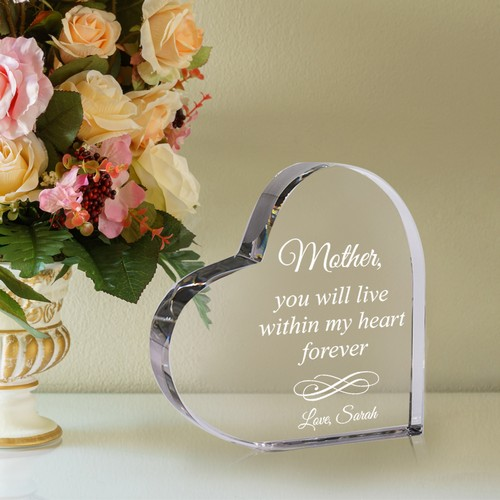 Personalized Acrylic Keepsake Heart for Mother