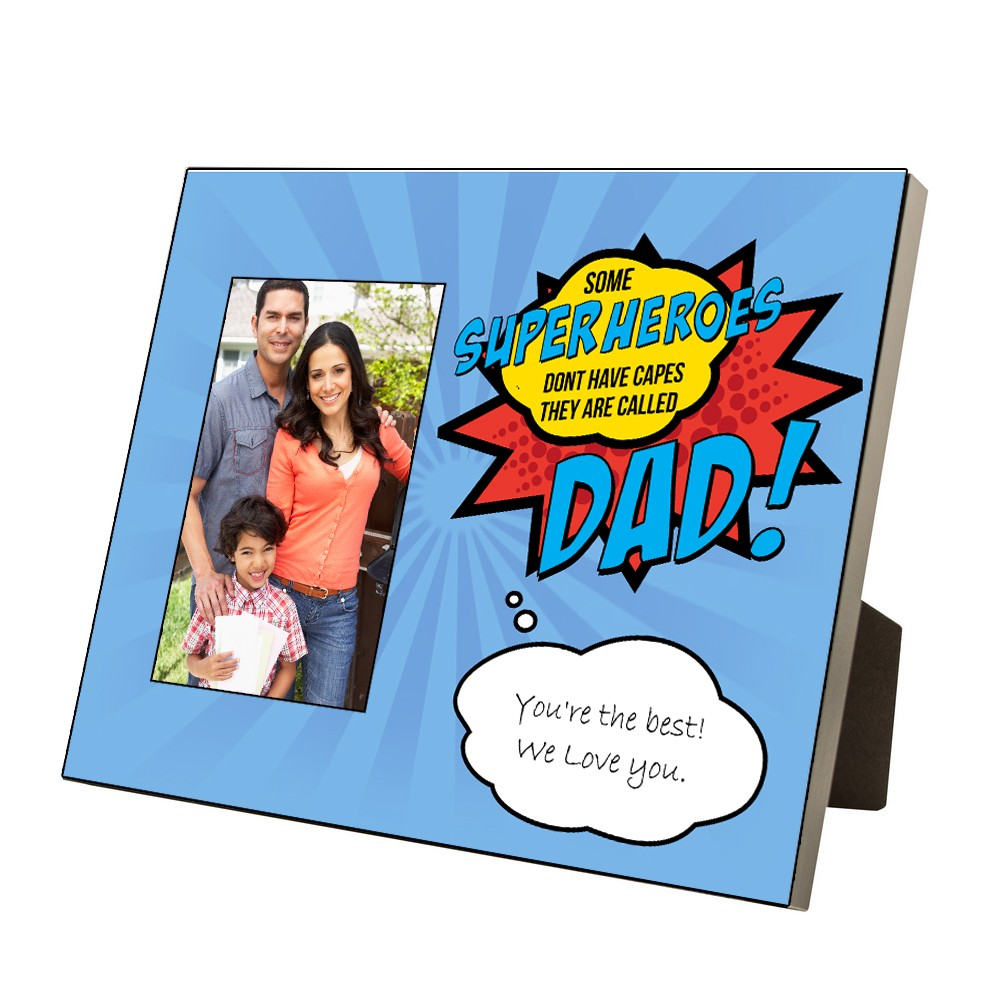 Personalized picture frames personlized 4 x 6 super dad photo frame jeuxipadfo Gallery