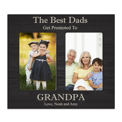 Personalized Double 4 x 6 Photo Frame for Grandpa