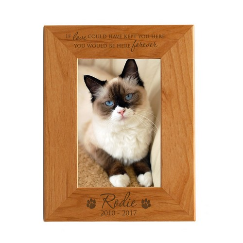 Pet Memorial Personalized 8x10 Alder Wood Frame