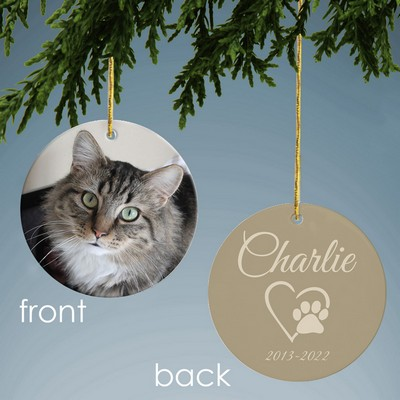 Pet Memorial Personalized Ceramic Ornament