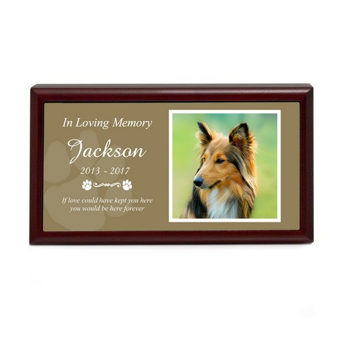 Pet Paw Print Personalized Memory Box with Photo