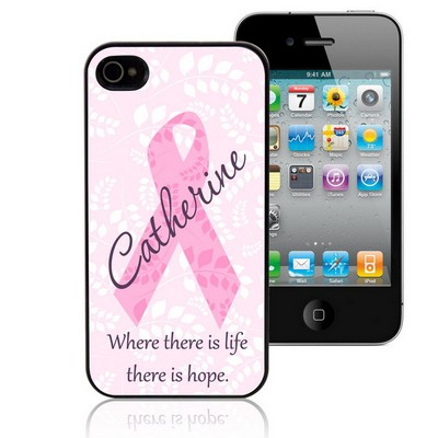 Pink Ribbon Personalized iPhone Case