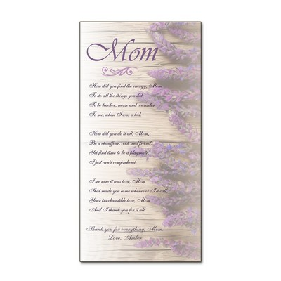 Poem for Mom Personalized Wall Art Panel