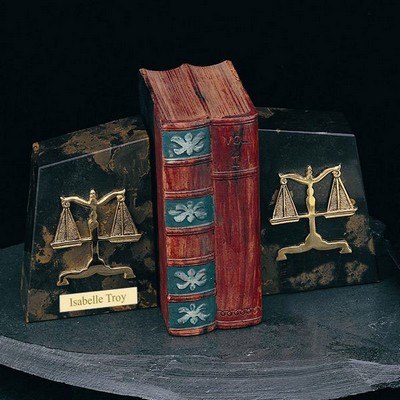 Luxurious Marble Legal Bookends