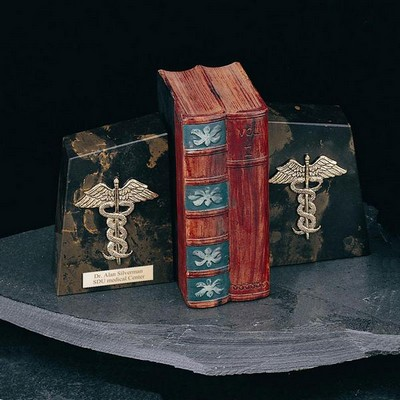 Luxurious Marble Medical Bookends