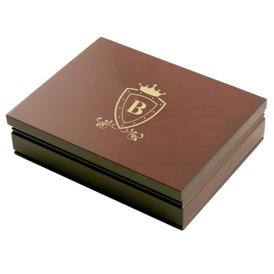 Royal Rosewood Box with Two Decks of Cards