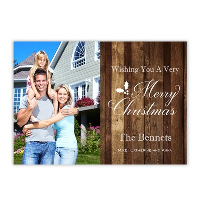 Rustic Family Photo Christmas Card