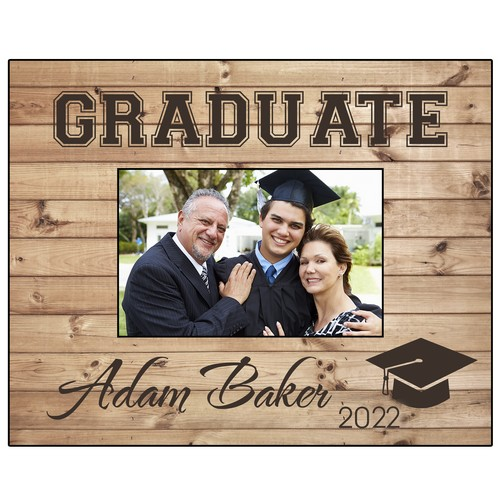Rustic Look Personalized 4x6 Photo Frame for Graduates