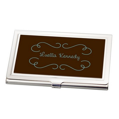 Chocolate Brown Business Card Holder