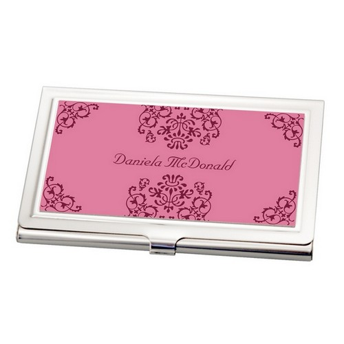 Elegant Scroll Business Card Holder