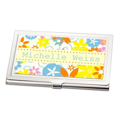 Floral Business Card Holder