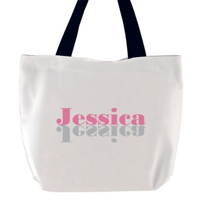 Think Pink Personalized Name Tote Bag