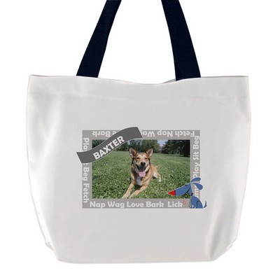 Happy Dog Photo Tote Bag
